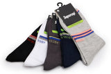 Supersox Men's Combed Cotton Design Ankle Length Socks (Pack Of 5)