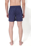 SuperGear Navy Pattern Design Two Pockets Boxers For Mens - Pack of 1
