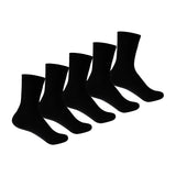 Kid's PO5 Combed Cotton School Socks - Black