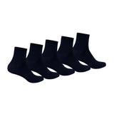 Kid's PO5 Combed Cotton School Socks - Navy