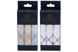Luxxio Multi Color Luxury Mercerized Cotton Handkerchief for Men (Pack of 6 Pcs)