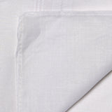 Luxxio Pure White Essential Combed Cotton Handkerchief for Men (Pack of 6 Pcs)