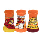 Supersox Disney Lionking Character Regular Length Socks Collection for Baby Pack of 3