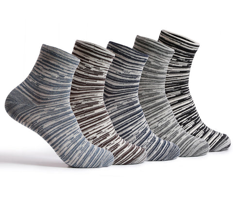 Supersox Combed Cotton Metallic Design Ankle Length Socks for Men Pack of 5