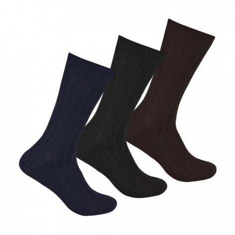 Men's PO3 Combed Cotton Rib Socks