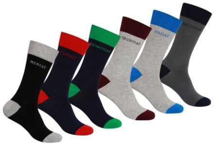Men's 6-Day Work Week Socks Dispenser