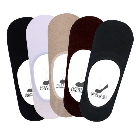 Men's PO5 Anti Slip No Show Plain Socks - Essentials