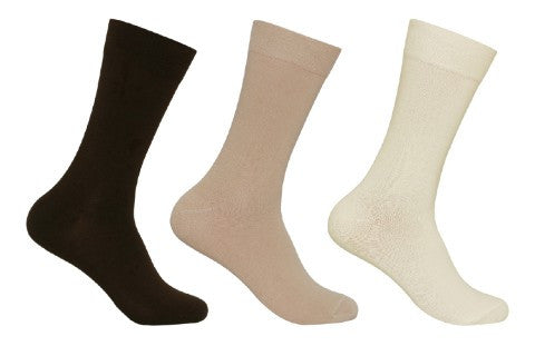 Men's PO3 Combed Cotton Plain Socks - Sunset