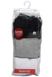 Men's PO3 Regular Combed Cotton Terry Sports Socks - Assorted