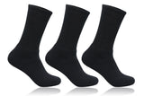 Men's PO3 Regular Combed Cotton Terry Sports Socks - Black