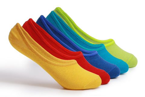 Supersox Unisex Kids Combed Cotton Loafer Socks - (With Anti - Slide off Silicon Grip technology)  Anti Slip No Show - Loafer - Footies Socks Invisible Socks - Pack of 5
