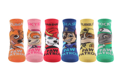 Supersox Paw Patrol Character Ankle Length Socks Collection for Kids Pack of 6`