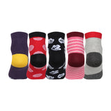 Supersox Disney Mickey & Friends Character Ankle Length Socks Collection for Kids Pack of 5