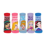 Supersox Disney Princess Ankle Length Socks Collection for Kids Pack of 5