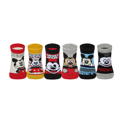 Supersox Disney Mickey & Friends Character Regular Length Socks Collection for Baby Pack of 6