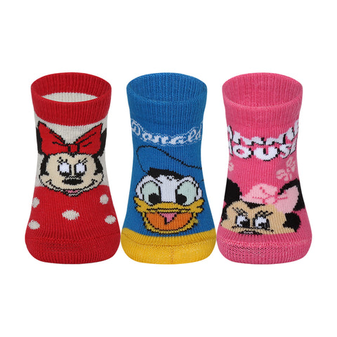 Supersox Disney Minnie & Friends Character Regular Length Socks Collection for Baby Pack of 3