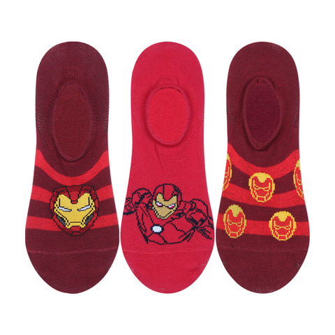 Supersox Disney Avenger Character No Show Length Socks Collection for Kids Pack of 3