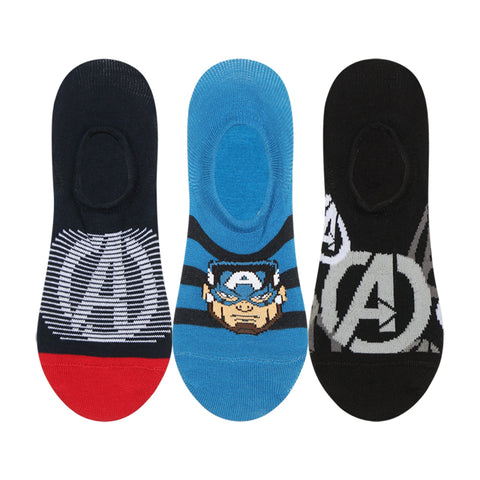 Supersox Disney Avenger Character No Show Length Socks Collection for Men Pack of 3 (Free Size)