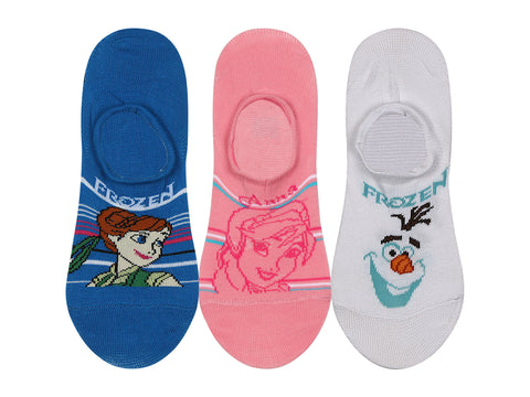 Supersox Disney Frozen Character No Show Length Socks Collection for Kids Pack of 3