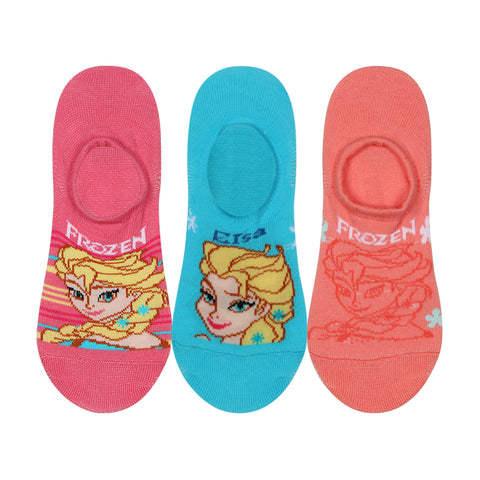 Supersox Disney Frozen Character No Show Length Socks Collection for Womens Pack of 3