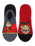 Supersox Disney Incredible Character No Show Length Socks Collection for Kids Pack of 2