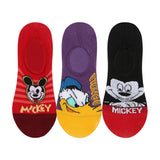 Supersox Disney Mickey & Friends Character No Show Length Socks Collection for Kids Pack of 3