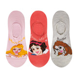Supersox Disney Princes Character No Show Length Socks Collection for Kids Pack of 3