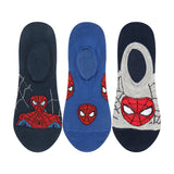 Supersox Disney Spiderman Character No Show Length Socks Collection for Kids Pack of 3