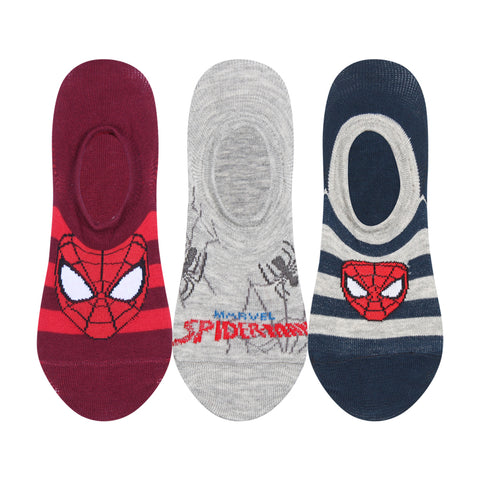 Supersox Disney Spiderman Collection Character No Show Length Socks for Men Pack of 3 (Free Size)