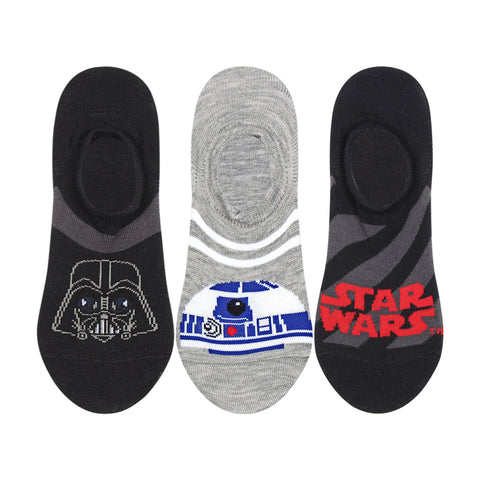 Supersox Disney Star Wars Collection Character No Show Length Socks for Men Pack of 3 (Free Size)