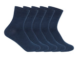 Supersox Kids School Uniform Ankle Length Combed Cotton Navy Color Socks Pack Of 5