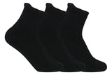 Supersox Women's Ankle Length Terry Socks Black - Pack of 3
