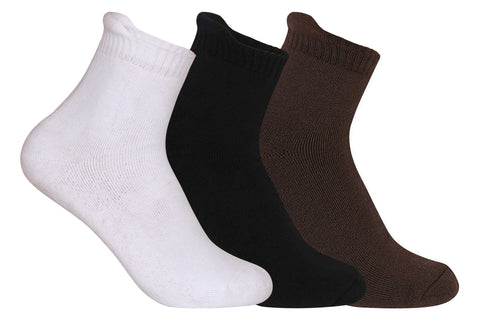 Supersox Women's Ankle Length Terry Socks Assorted - Pack of 3