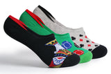Supersox Diwali Festival/Poker/TeenPatti Mens Crew Length Socks Pack Of 3