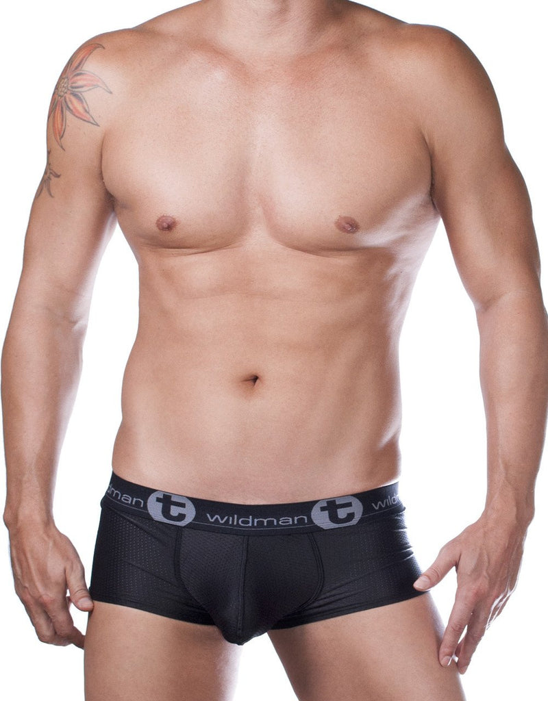 WildmanT Big Boy Mesh Pouch Boxer Brief Black