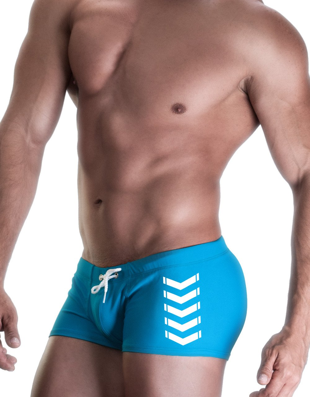 WildmanT CHEVRON SQUARE CUT SWIM BLUE - Big Penis Underwear, WildmanT - WildmanT