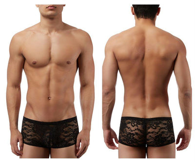 Stretch Lace Mini Short Boxer Briefs