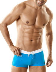 WildmanT Banned Swim Square Cut w/Ball Lifter® Cock-Ring Teal - Big Penis Underwear, WildmanT - WildmanT