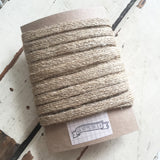 10mm Rustic Natural Hessian Jute Woven Tape - SweetpeaStore