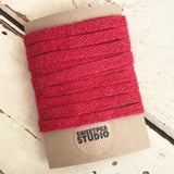 10mm Rustic Red Hessian Jute Woven Tape - SweetpeaStore