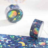 20mm x 10m Space & Planets Blue Paper Washi Tape - SweetpeaStore