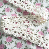 20mm Pretty Cream Cotton Crochet Lace Trim - SweetpeaStore