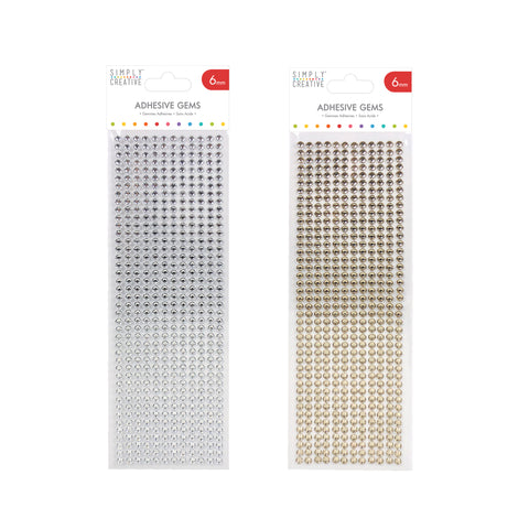 6mm Silver or Gold Diamante Adhesive Gem Stickers - Pack of 504 - SweetpeaStore