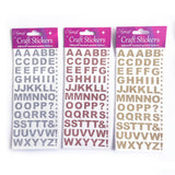 Silver Sparkly Glitter Alphabet Peel Off Stickers - 13mm - SweetpeaStore
