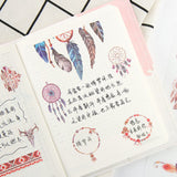 6 Sheets of Pretty Dreamcatcher Feathers & Skulls Stickers - SweetpeaStore