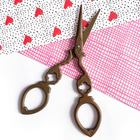 Brown Vintage Style Scissors