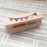 Bunting Wooden Rubber Printing Stamp - SweetpeaStore