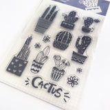 Set of 13 Cactus Cacti Plant Clear Silicone Cling Stamps - SweetpeaStore