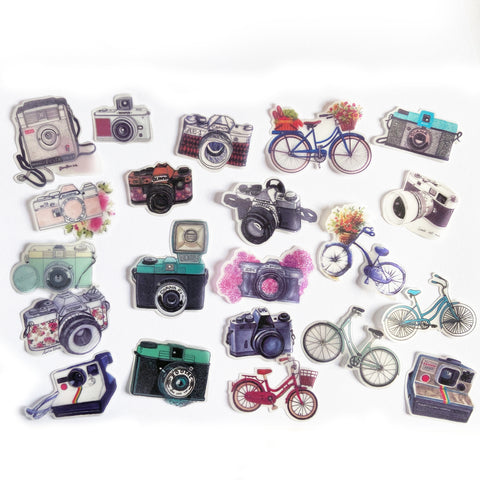 Camera & Bicycle Sticker Set - SweetpeaStore