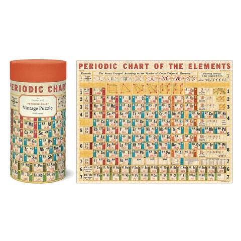 1000 Piece Jigsaw Puzzle - Periodic Table Chart - Cavallini & Co - 55 x 70 cm - SweetpeaStore
